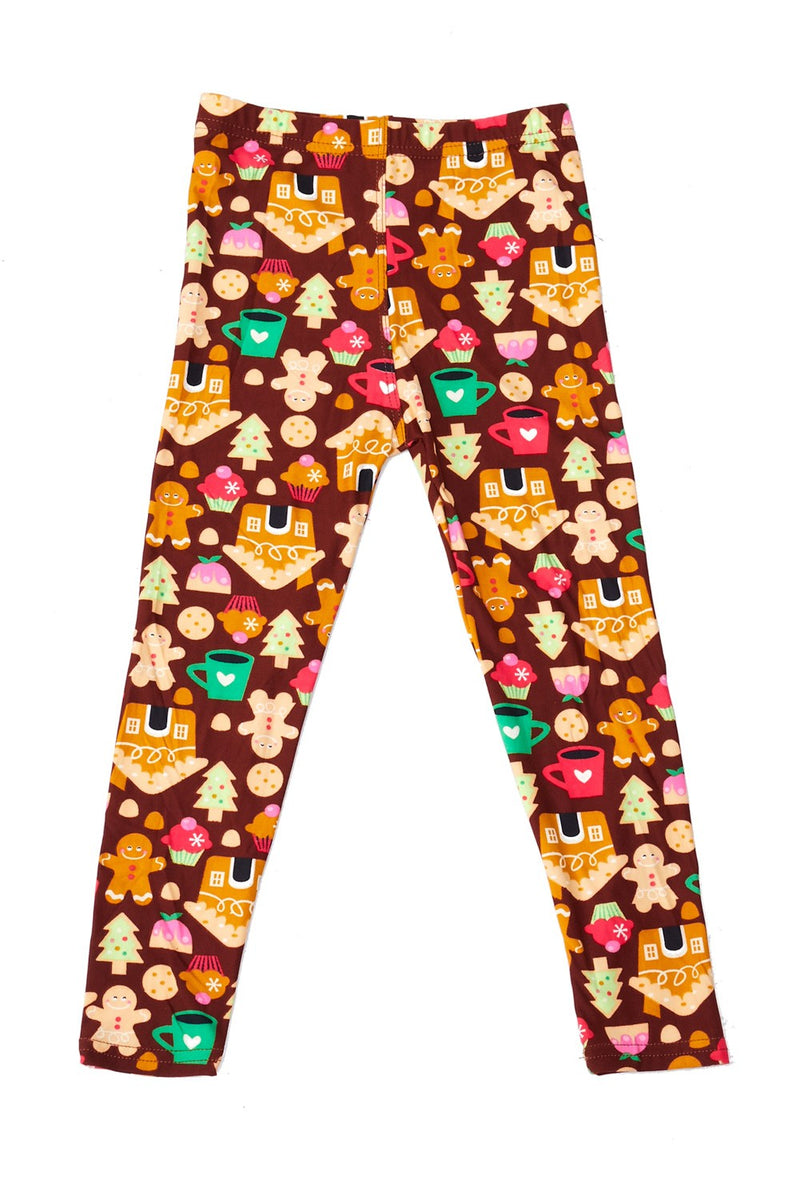 Kids Gingerbread People Leggings