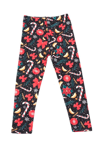 Kids Ribbons and Candy Cane Leggings