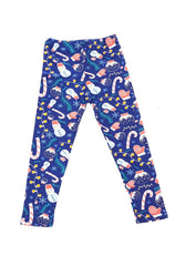 Kids Snowflakes and Snowglobes Leggings