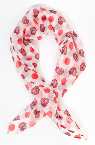 I Love Lucy x Unique Vintage Hearts & Dots Hair Scarf