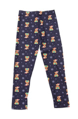 Kids Snowy Teddy Leggings