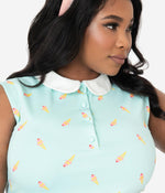 Mint Ice Cream Print Missy Top