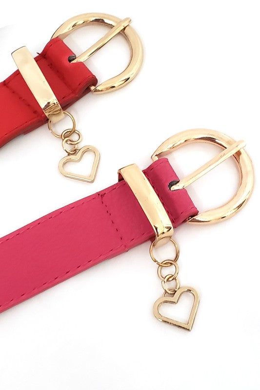Skinny Heart Drop Belt in Multiple Colors