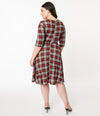 Red and Grey Plaid Nicole Dress