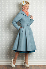 Lorin-Helio Water Resistant Trench Coat in Mint by Miss Candyfloss