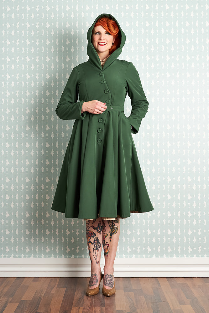 Loris-Olive Waterproof Coat by Miss Candyfloss