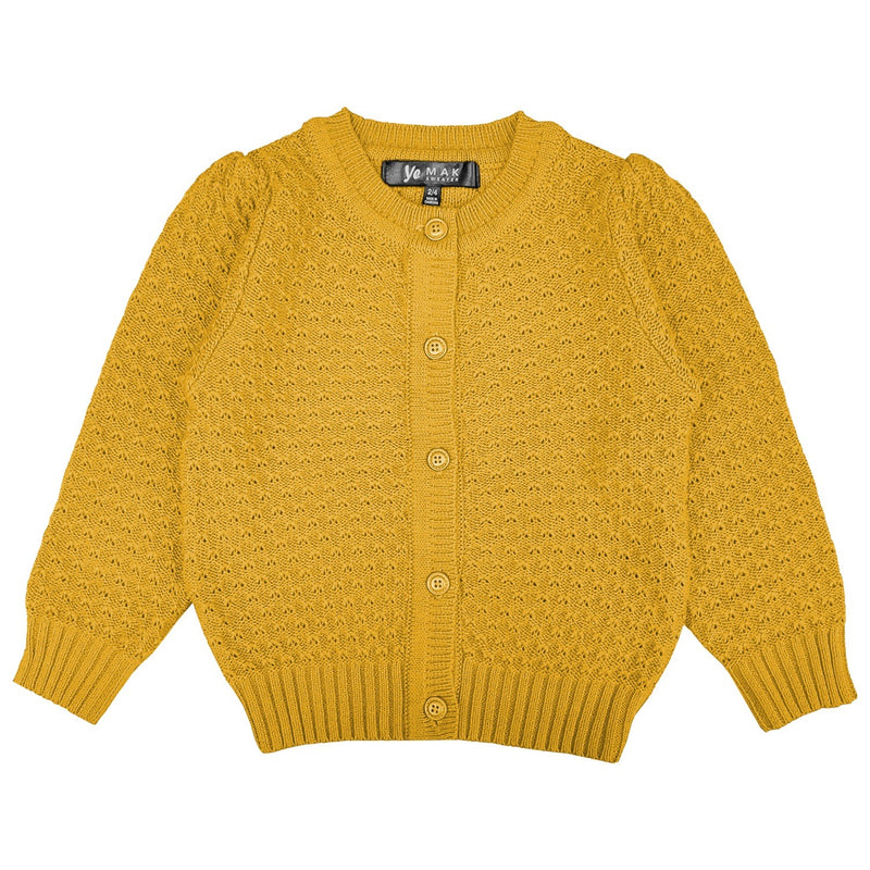 Kids Honey Crocheted Cardi