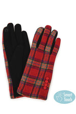 Plaid Winter Gloves in Multiple Colors