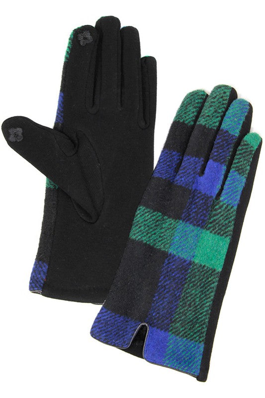 Check Winter Gloves in Multiple Colors