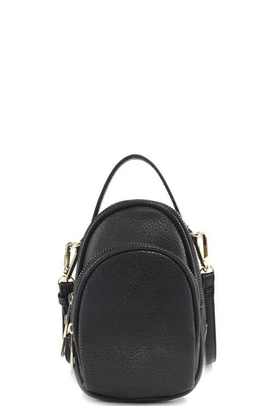 Black Oval Crossbody Bag