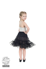 Hearts & Roses Girl's Petticoat in Black