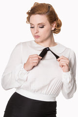 Freshwater Blouse in Ivory