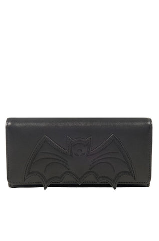 Bat Applique Wallet in Black