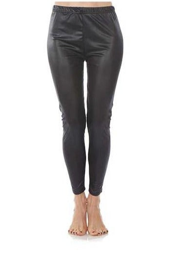 Black Faux Leather Leggings by Foot Traffic