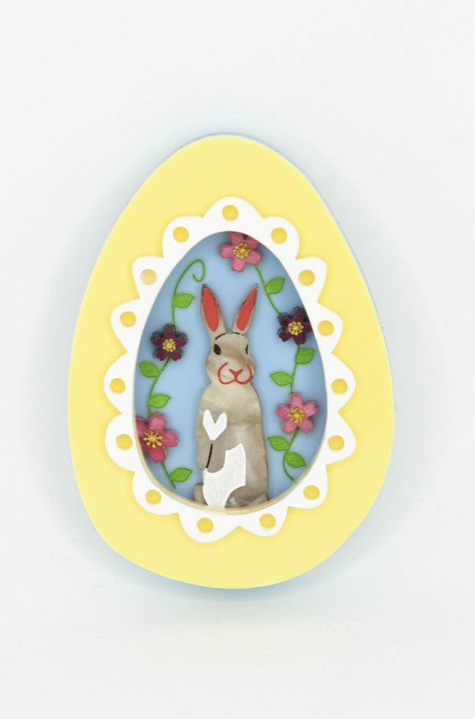 Easter Egg Bunny Brooch by Daisy Jean Floral