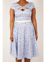 Sweethearts Blue Flare Dress by Voodoo Vixen