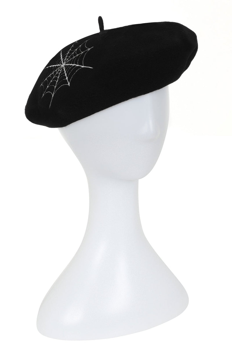Spiderweb Beret by Collectif