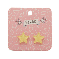 Star Stud Earrings in Yellow Bubble by Erstwilder