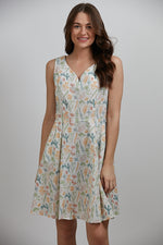 White Vegetable Print Dress