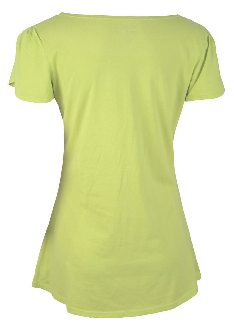 Sporting Girl Tulip Sleeve T-Shirt Top in Citron by Blue Platypus