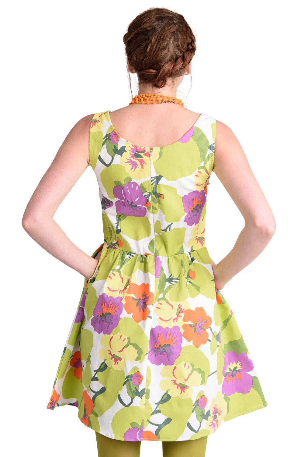 Spring Floral Fit and Flare Dress by Blue Platypus