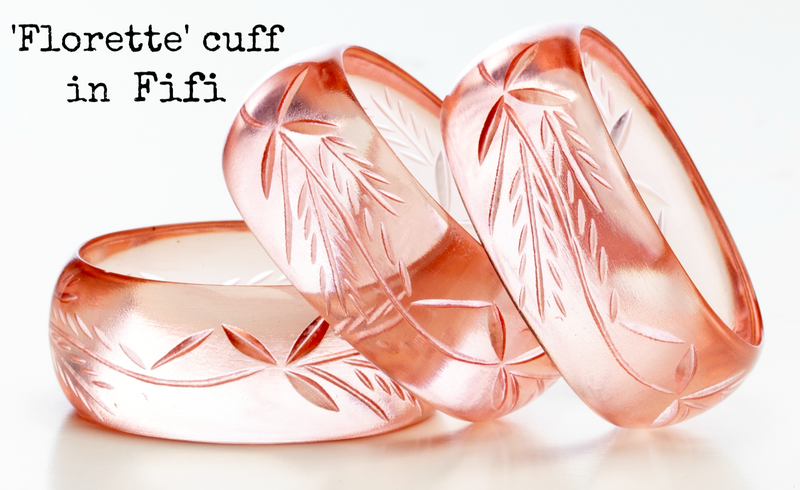 Florette Bangle in Multiple Colors by Lucky Lou