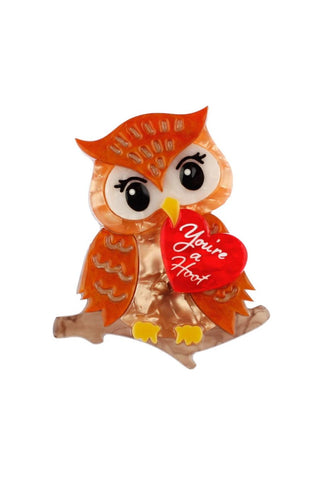 You're a Hoot Brooch by Erstwilder