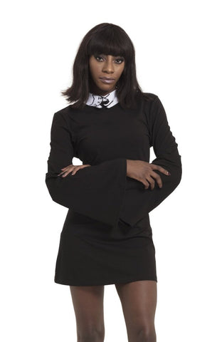 Black Shift Dress with Cat Collar by Jawbreaker