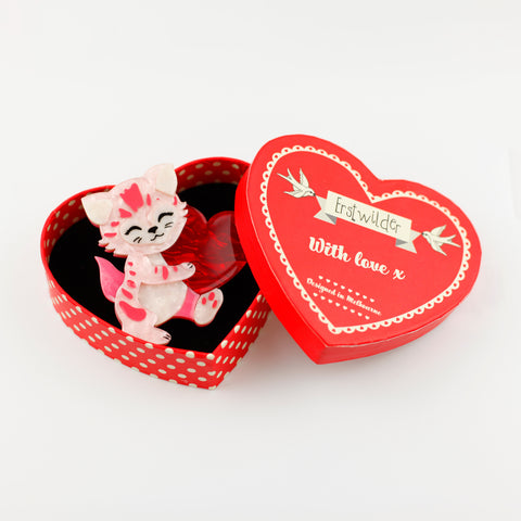 Feline the Love Brooch by Erstwilder