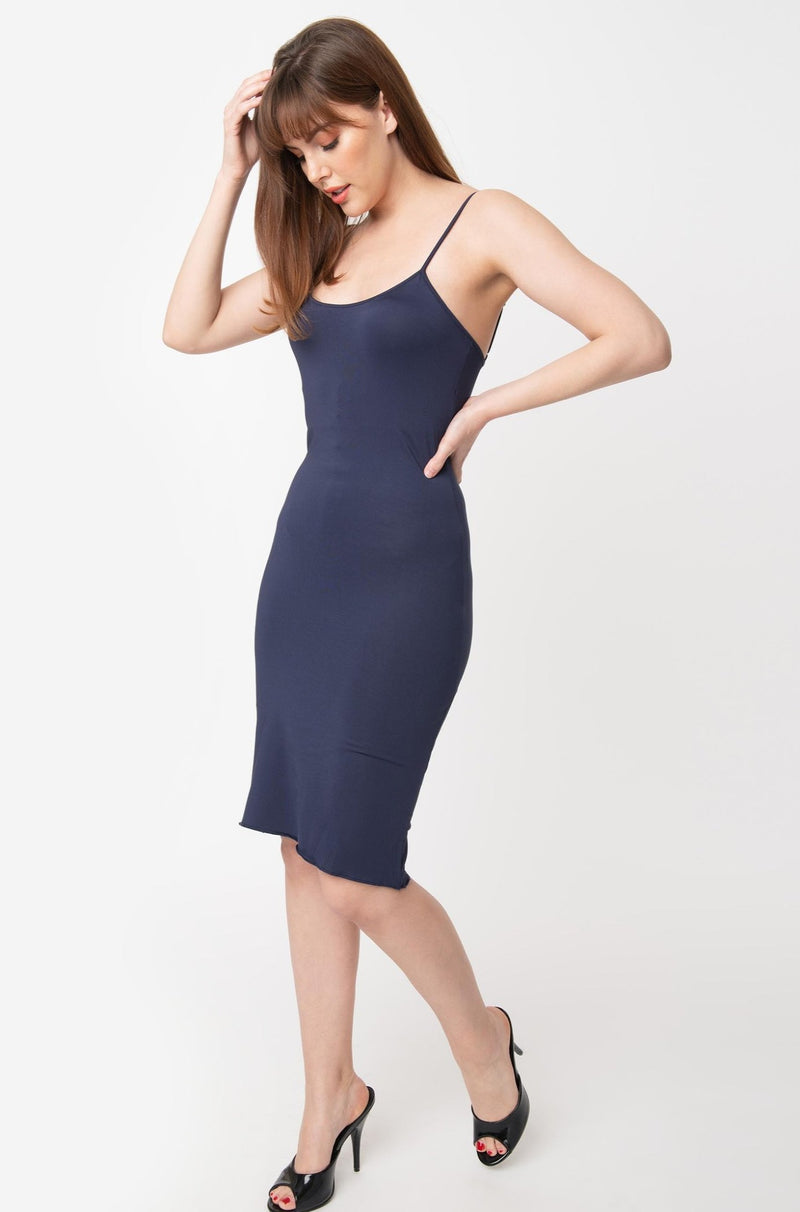 Navy Jersey Slip for Under Your Dresses!
