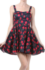 Cherry Tie-Back Mini Dress by Ixia