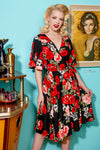 Rose Red Aurora Wrap Dress by Wax Poetic