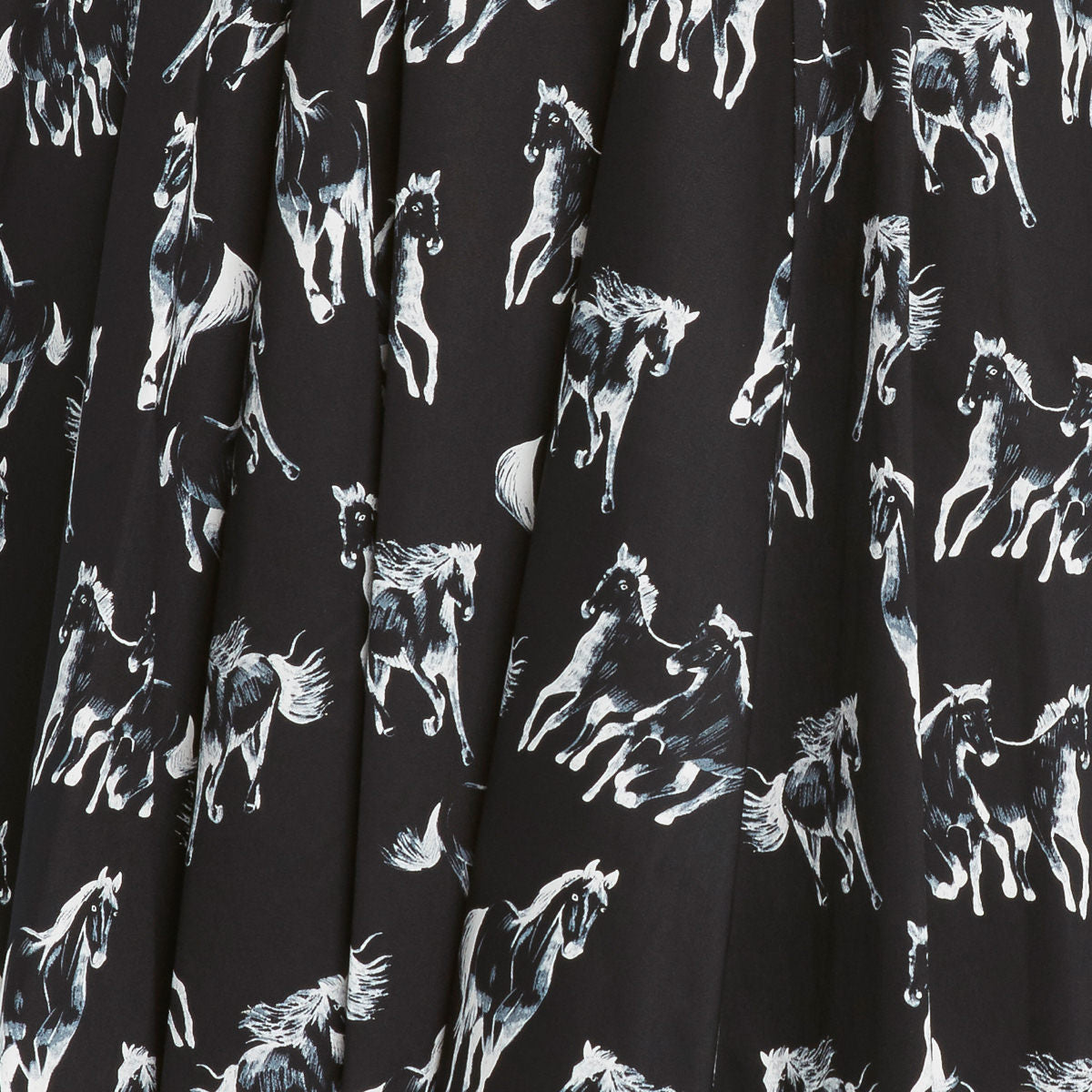 Horse Print 50's Full Skirt by Eva Rose
