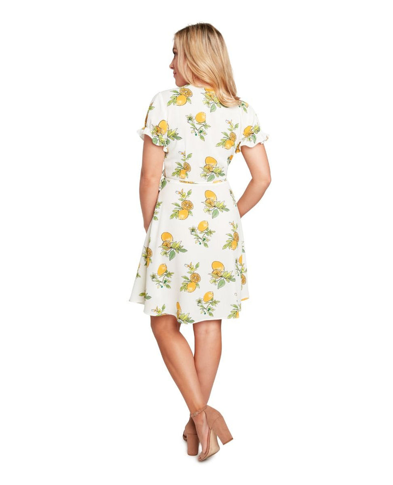 White Lemon Wrap Dress by Eva Rose