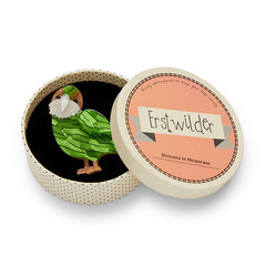 Kakapo on Show Brooch by Erstwilder