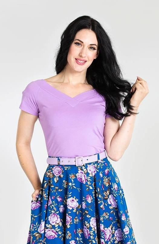 Alex Top in Lavender by Hell Bunny