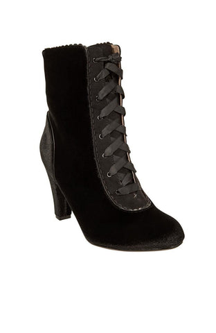 Victoria Black Lace-Up Bootie by Chelsea Crew