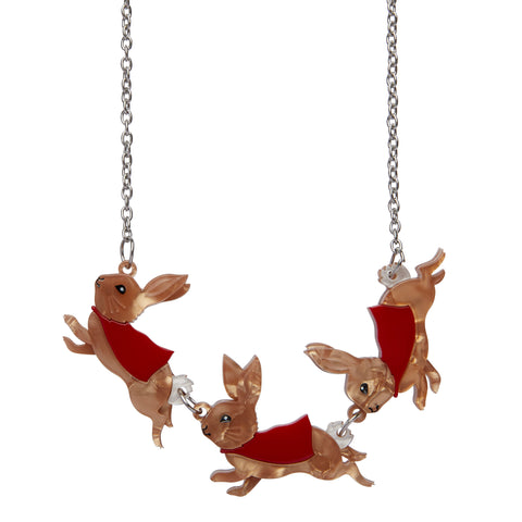 Flopsy, Mopsy, and Cottontail Necklace by Erstwilder