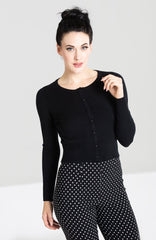 Paloma Cardigan in Black by Hell Bunny