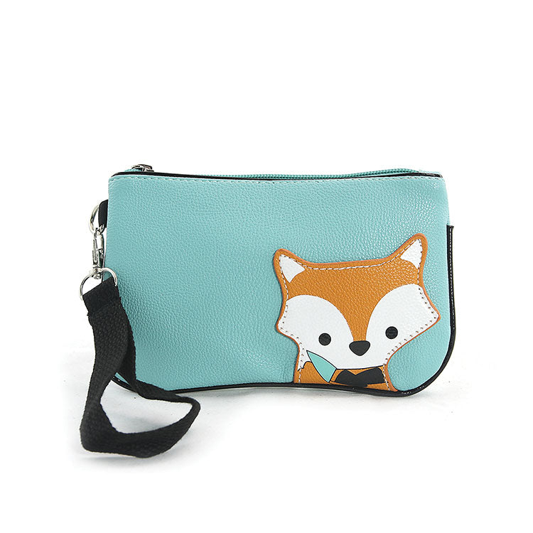 Peeking Baby Fox Wristlet in Green