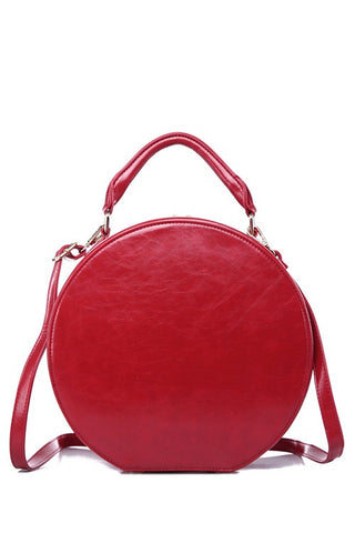 Hat Box Handbag in Red