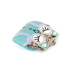 Sleeping Owl Coin Purse in Mint