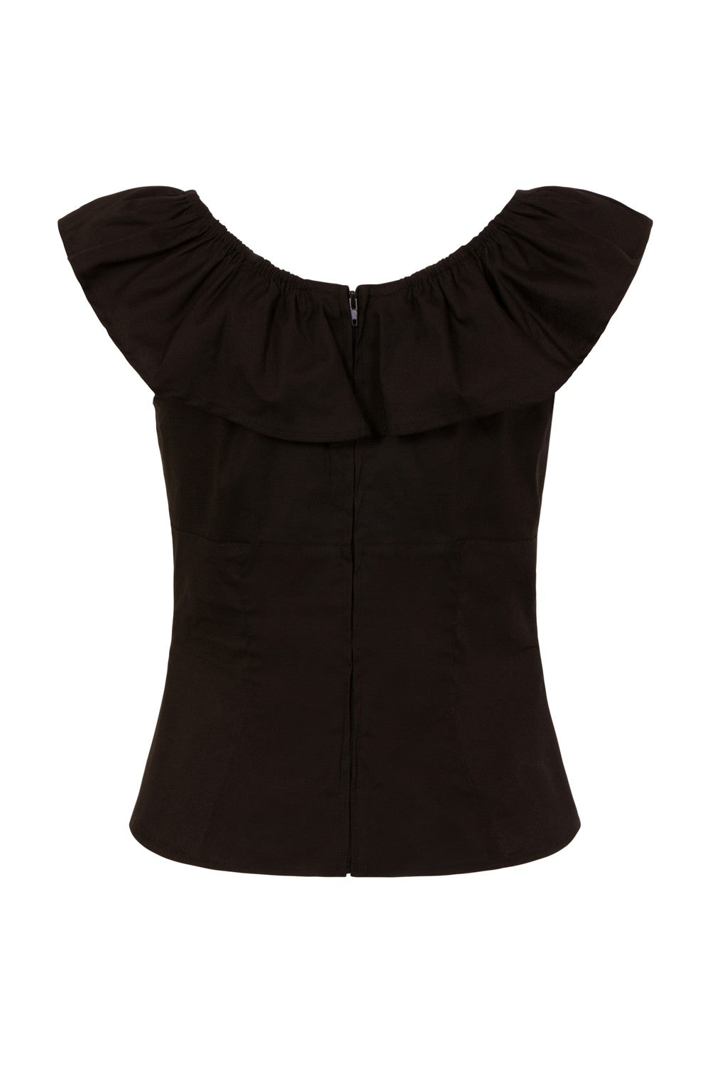 Rio Top in Black by Hell Bunny
