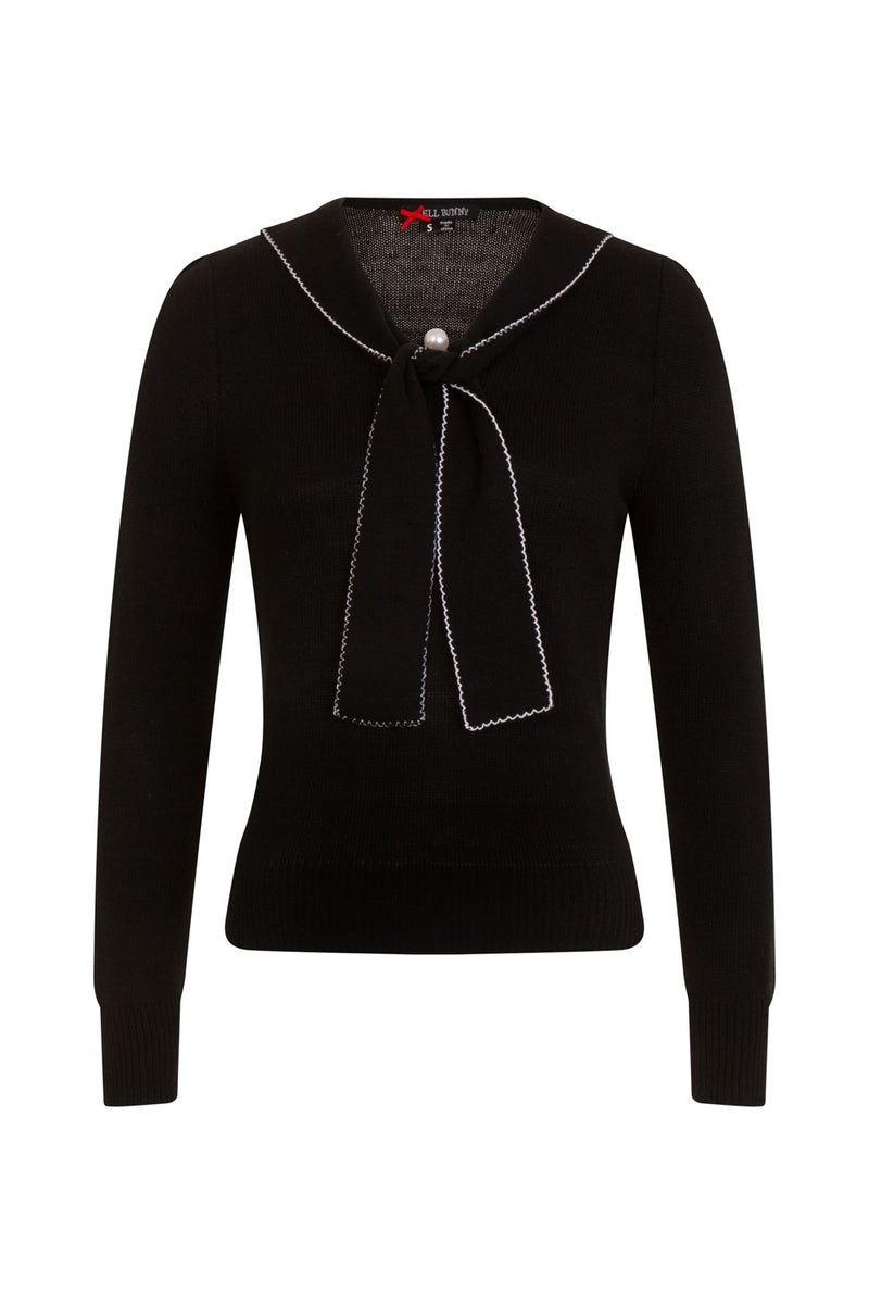 Connie Sweater in Black by Hell Bunny