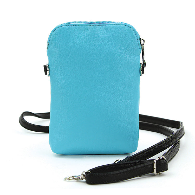 Peeking Penguin Crossbody Bag in Blue