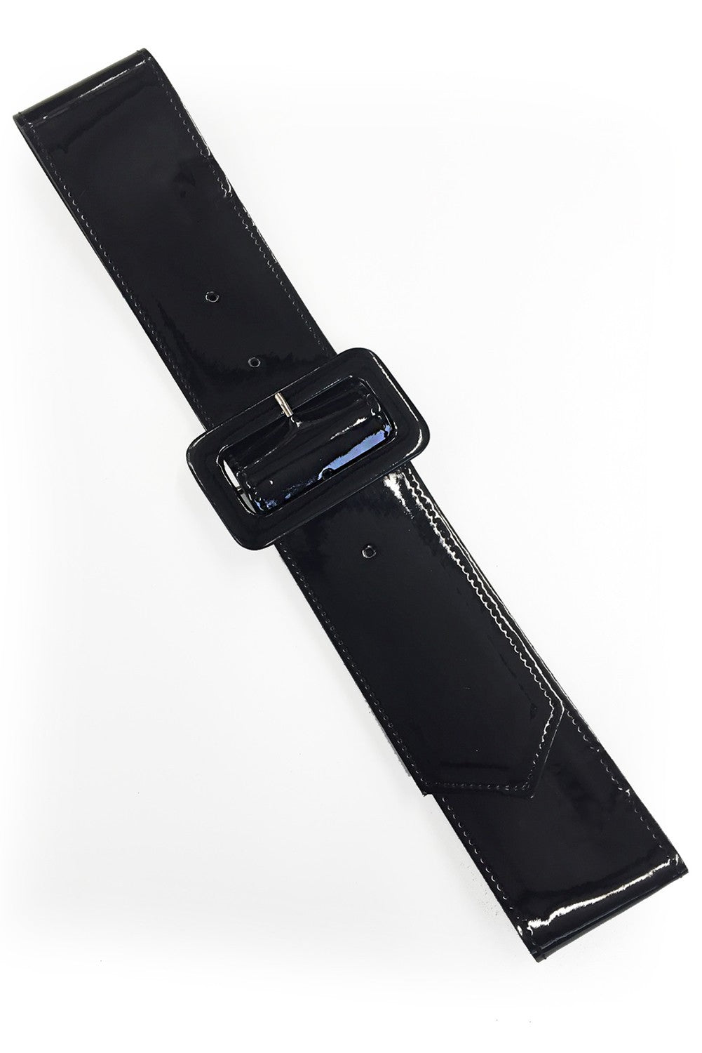 Kailey Black Patent Belt by Hell Bunny
