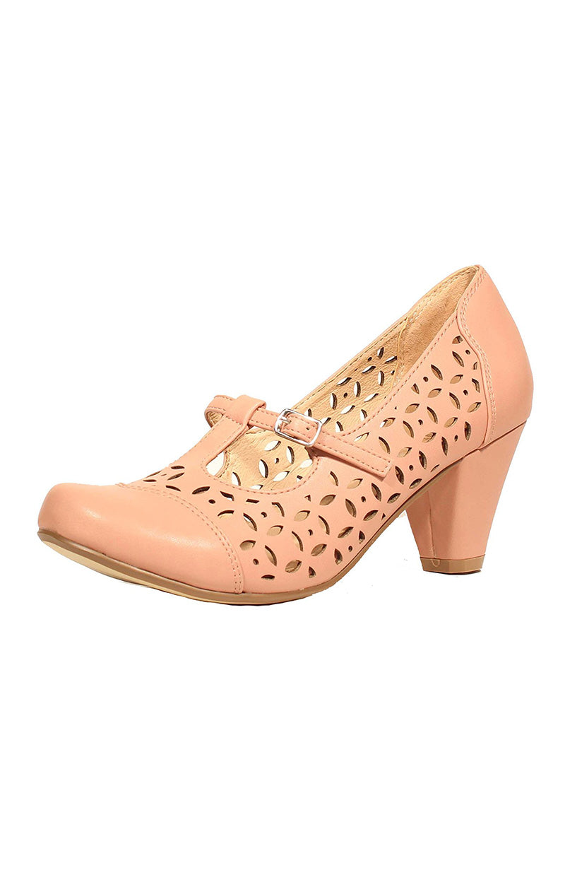 Chelsea Crew Milan Cut-Out Pumps in Pink