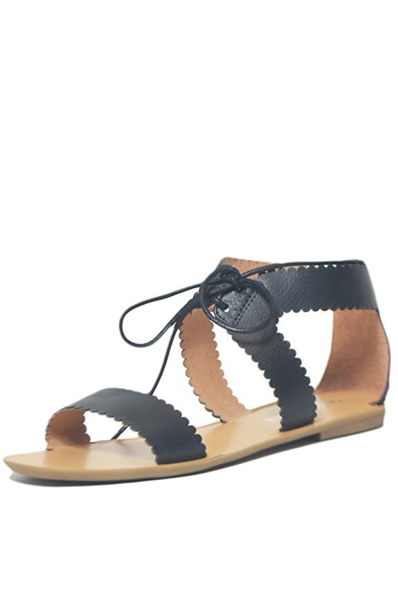 Chelsea Crew Kara Flat Sandals in Black
