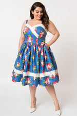 Floral and Polkadot Darienne Dress by Unique Vintage