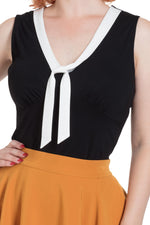 Nellie Black Tank with Contrast Tie by Voodoo Vixen